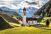 Parish Church of St. Anthony in Niederthai in the Ötztal, Tyrol, Austria
