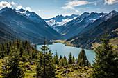 Blick vom Gerlospass auf den Speicher Durlaßboden, Nationalpark Hohe Tauern, Tirol, Österreich