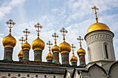 Domes of the Terem Palace Church at the Moscow Kremlin, Moscow, Russia, Europe