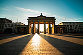 Low angle view of Brandenburg Gate against sky,Berlin