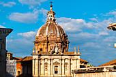 Exterior view of Santi Luca e Martina Church at Roman Forum,Rome
