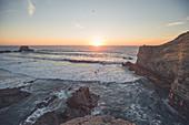 Landschaftsaufnahme von der Meeresküste in Portugal