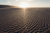 Sand structure in sunset, sea, Portugal, vacation