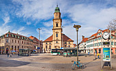 Huguenot Church and Huguenot Square in Erlangen, Middle Franconia, Bavaria, Germany