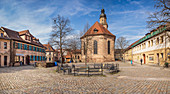 Old Town Church Square and the Old Town Trinity Church in Erlangen, Middle Franconia, Bavaria, Germany
