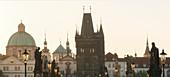Old Town Bridge Tower, Church of the Cross, Prague, Czech Republic