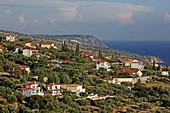 Location Lourdata on the west coast of the island of Kefalonia, Ionian Islands, Greece