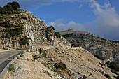 Road to Mount Ilias Enos, Kefalonia Island, Ionian Islands, Greece