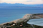 Agios Ioannis beach in front of the capital Lefkada, Lefkada island, Ionian islands, Greece