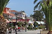Waterfront promenade of the town of Nydri, Lefkada Island, Ionian Islands, Greece