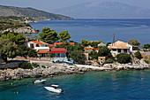 Landzunge mit Ort Mikro Nisi, Insel Zakynthos, Ionische Inseln, Griechenland