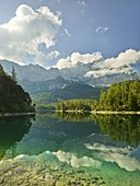 Eibsee, Zugspitze, Bayern, Deutschland