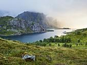 Himmeltindan, Maervoll, Vestvagoya, Lofoten, Nordland, Norway