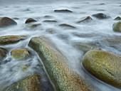 Rocks at Unstad, Vestvagoya, Lofoten, Nordland, Norway