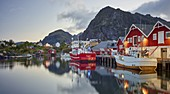 Harbor in Reine, Moskenesoya, Lofoten, Nordland, Norway