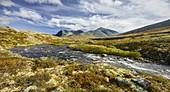 River Storula, Rondslottet, Storronden, Rondane National Park, Oppland, Norway