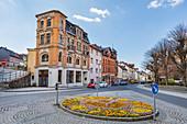 Lower market in Sonneberg, Thuringia, Germany
