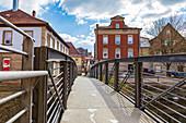 Bridge over Hasslach River, Kronach, Bavaria, Germany