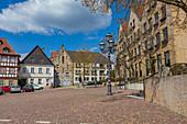 Marktplatz in Kronach, Bayern, Deutschland