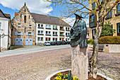 Lucas-Cranach monument on the market square of Kronach, Bavaria, Germany