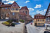 Bamberger Tor und Schwedenstraße in Kronach, Bayern, Deutschland