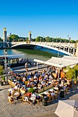 France, Paris, area listed as World Heritage by UNESCO, the banks of the Seine, the New Banks in front of the Alexander III bridge