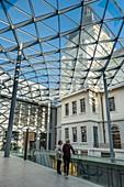 France, Rhone, Lyon, la Presqu'le, historic centre classified as a UNESCO World Heritage site, Grand Hotel-Dieu, cour du Midi