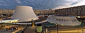 France, Seine Maritime, Le Havre, city rebuilt by Auguste Perret listed as World Heritage by UNESCO, Space Niemeyer, Le Volcan (The Volcano) by architect Oscar Niemeyer, the first cultural center built in France