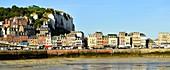 France, Seine Maritime, Le Treport, quay Francois I and the cliffs