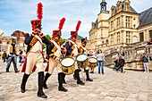 France, Seine et Marne, castle of Fontainebleau, historical reconstruction of the stay of Napoleon 1st and Josephine