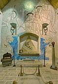 Frankreich, Essonne, Milly-la-Forêt, Saint-Blaise-Des-Simples-Kapelle, dekoriert von Jean Cocteau, der hier begraben liegt