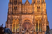France, Marne, Reims, Notre Dame cathedral, listed as World Heritage by UNESCO, the western frontage