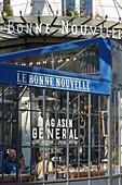 France, paris (terrace of Le Bonne Nouvelle restaurant located rue du Faubourg Poissonnière