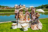 France, Seine et Marne, Maincy, the castle of Vaux-le-Vicomte, 15th Grand Siecle Day : costume day of the 17th century