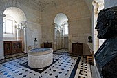 France, Gironde, Verdon-sur-Mer, rocky plateau of Cordouan, lighthouse of Cordouan, classified Historical Monuments, kings room