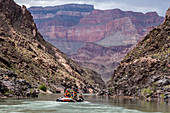 Floating in a raft on the Colorado River, Grand Canyon National Park, UNESCO World Heritage Site, Arizona, United States of America, North America