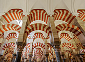Mezquita-Catedral, cathedral inside the former Great Mosque of Cordoba, interior, UNESCO World Heritage Site, Cordoba, Andalusia, Spain, Europe