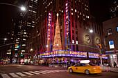 New York City street scene in front of the Rockefeller Center, New York, United States of America, North America