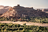 Ait Ben Haddou Ksar at sunset, UNESCO World Heritage Site, Morocco, North Africa, Africa