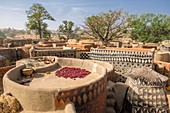 Burkina Faso, Centre-Sud region, Nahouri  province, Tiebele, the Royal Court is an exceptional testimony of Kassena traditions and architecture