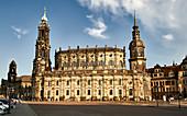 Die katholische Hofkirche in Dresden im Abendlicht, Dresden, Deutschland