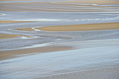 Low tide on Mont St. Michel, Brittany, Normandy, France, Europe