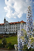 Garden of the Hohenschäftlarn monastery, Schäftlarn, Upper Bavaria, Bavaria, Germany
