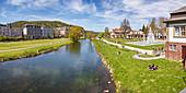 Saale am Rosengarten in Bad Kissingen, Bavaria, Germany