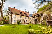 Torbau des Wasserschlosses Mitwitz, Bayern,  Deutschland