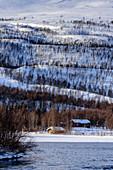 Landscape at Björn Klauer's husky farm, Bardufoss, Norway