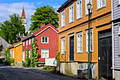 Former working-class district Möllenberg, Trondheim, Norway