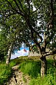 Aufstieg zur Festung Kristiansten, Trondheim, Norwegen