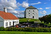 Cafe auf der Festung Kristiansten, Trondheim, Norwegen