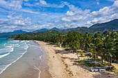 Aerial view of Sheridan Beach, Cabayugan, Puerto Princesa, Puerto Princesa, Philippines, Asia